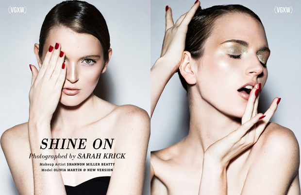 """""""Shine On"""" - a beauty editorial by Sarah Krick for VGXW Magazine"""
