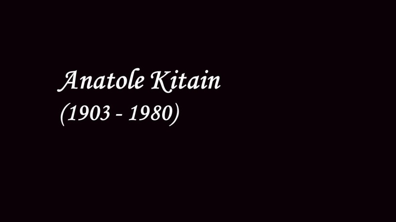 [1939] Anatole Kitain plays – Vallée d'Obermann (Années de Pèlerinage, Suisse, S.160) – Liszt