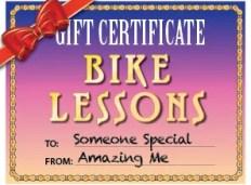 Bike Lesson Gift Certificates