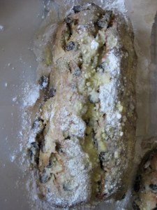 Stollen with icing sugar 2