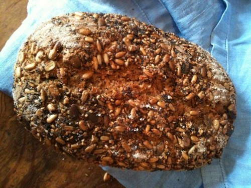 Bread made with sprouted flour