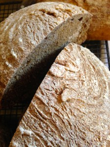 Simple recipe for rye and spelt sourdough bread with caraway seeds 6