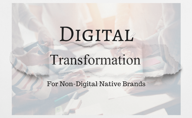 Digital Transformation for Non-Digital Native Brands