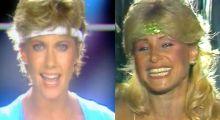 Videobattle: Olivia Newton-John vs Vanessa.