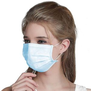 50 Pack SURGICAL FACE MASK WITH EAR LOOPS – MEDICAL/DUST / 3 PLY MASKS