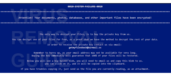 Getmyfilesback@airmail.cc adware
