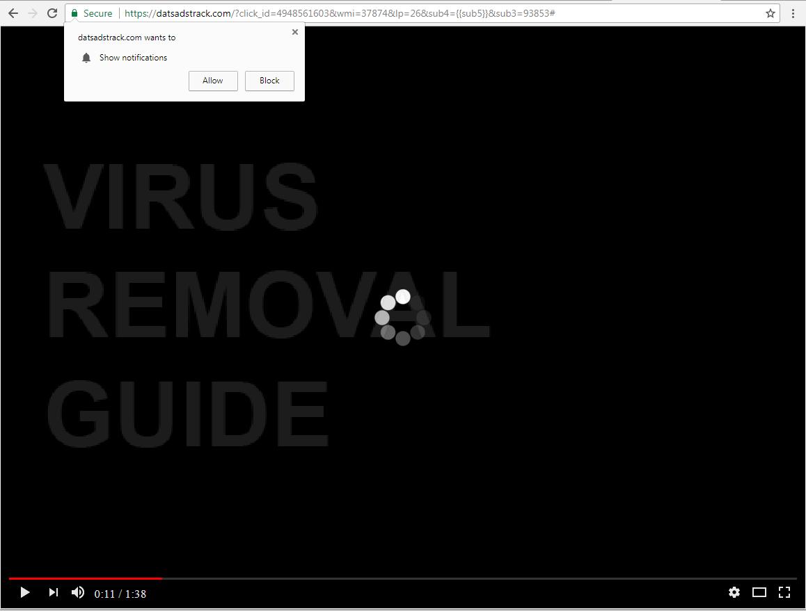 Datsadstrack.com adware