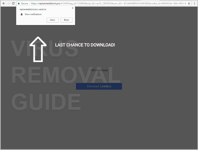 Rephantedditont.pro adware
