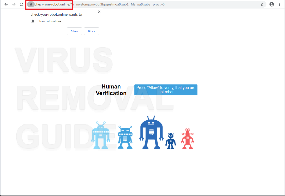 Check-you-robot.online adware