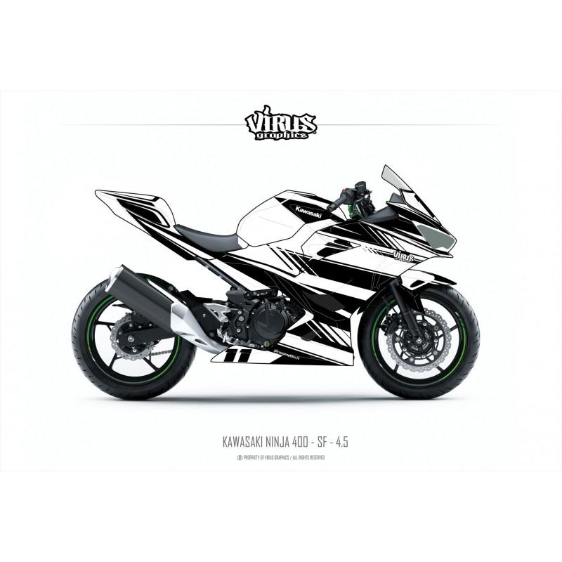 Kit déco Kawasaki Ninja 400 2018 Virus Graphics