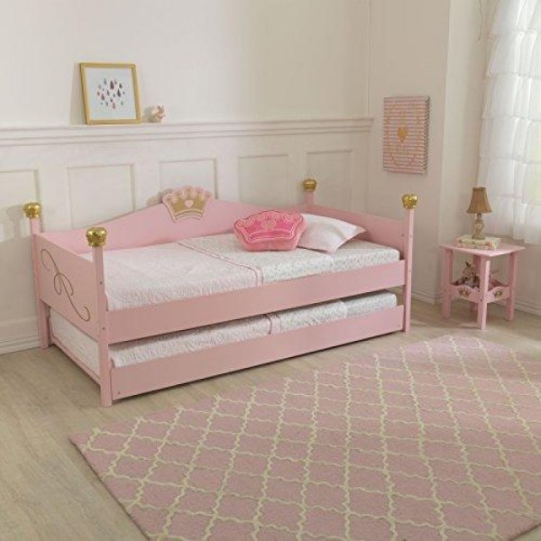 Twin Trundle Bed - Pink