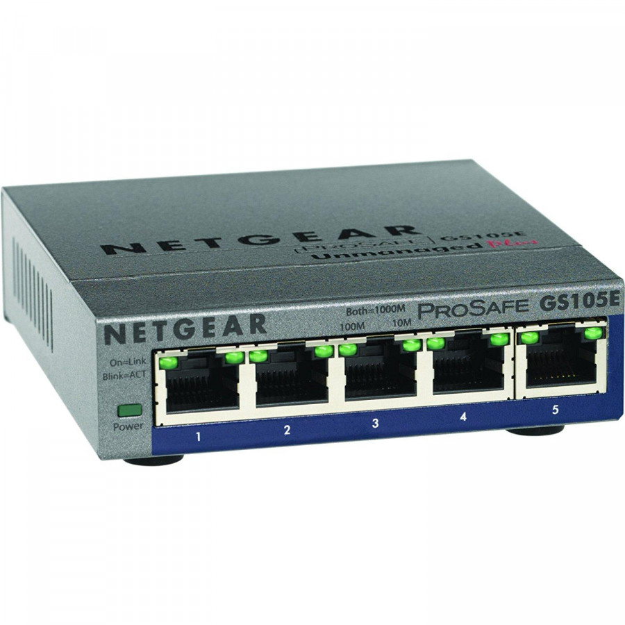 Netgear Gs105e100pes Switch Gigabit Ethernet 5port Vlan Green