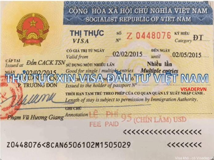 THỦ TỤC XIN VISA LAO ĐỘNG VIỆT NAM