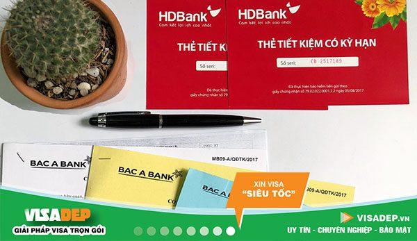 dịch vụ chứng minh tài chính ngân hàng