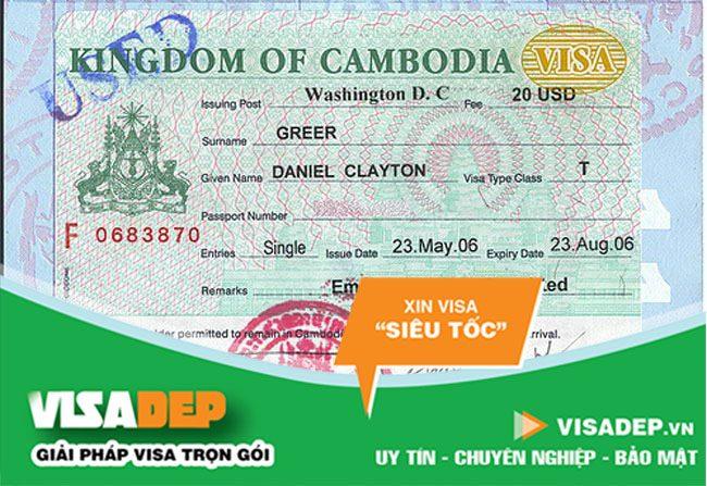 Dịch vụ làm visa campuchia trọn gói