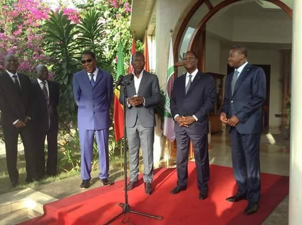 Rencontre à Abidjan ce lundi : Talon et Yayi font la paix chez Ouattara en présence de Faure