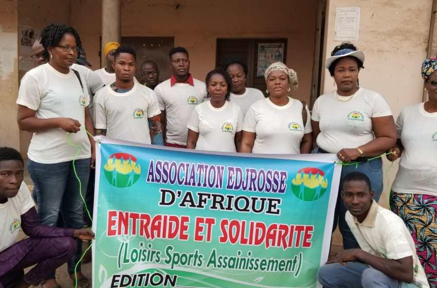 Assainissement du cadre de vie des usagers des marchés de Porto-Novo : L'ASSOCIATION EDJROSSE D'AFRIQUE DE MME ADÈLE DOSSOU EN DONNE L'EXEMPLE