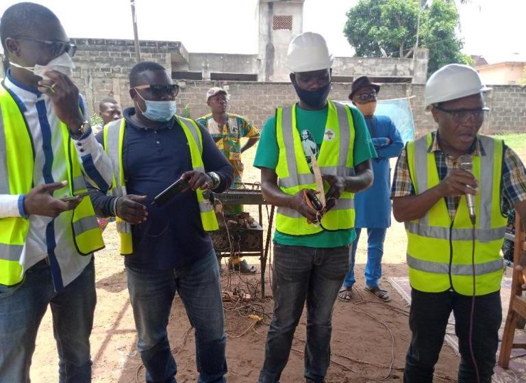 Construction de voies à Porto-Novo: Séances de prières et d'informations au lancement de la 2ème phase de l'asphaltage au quartier ''LES PALMIERS''