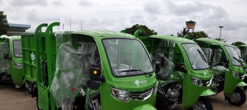 Pré-collecte de déchets ménagers dans le Grand Nokoué: 550 tricycles remis à 69 Pme