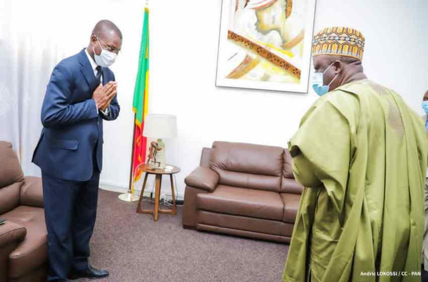 Audience au cabinet du Président de l'Assemblée Nationale :Louis G. Vlavonou échange avec l'Ambassadeur du Bénin près les Nations Unies