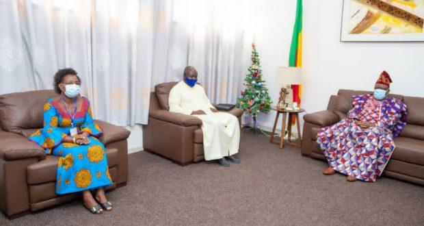 Assemblée Nationale/Audience : Des responsables du Mouvement Catholique des Cadres et Personnalités Politiques du Diocèse de Porto-Novo chez le Président Vlavonou