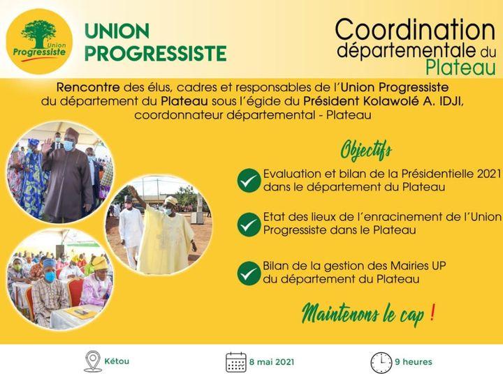 Bénin / Politique: Avec les militants UP-Plateau, les Présidents Vlavonou et Idji analysent la Présidentielle 2021