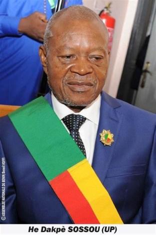 L'honorable Dakpè Sossou désormais 2ème Vice-Président de l'Assemblée nationale