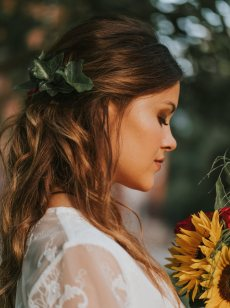 boho bride hair styling V