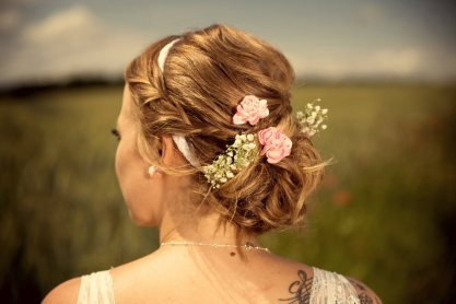 bride hair styling III