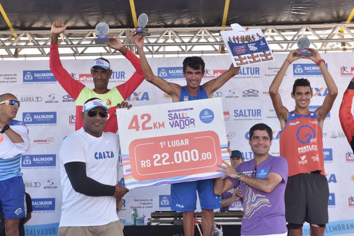 Vencedores da segunda edição da Maratona de Salvador