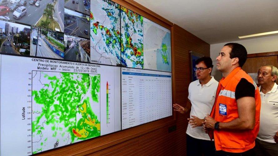 Chuvas chegam a 115,2 milímetros na madrugada em Salvador