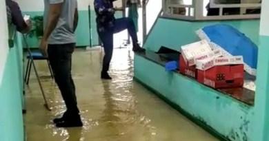 Em Vera Cruz a chuva chegou com força