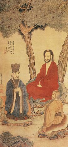 220px-Confucius_Lao-tzu_and_Buddhist_Arhat_by_Ding_Yunpeng