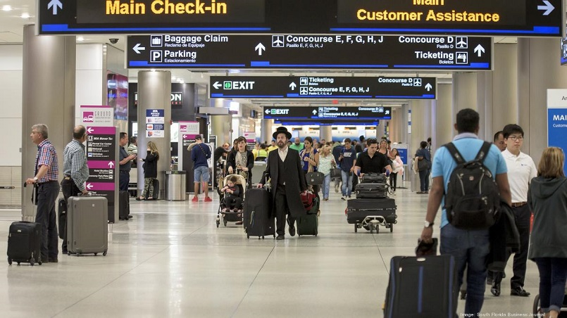 Miami International Airport served 45.9 million passengers in 2019, for an increase of nearly one million passengers over its total in 2018, according to the airport's final 2019 traffic statistics.