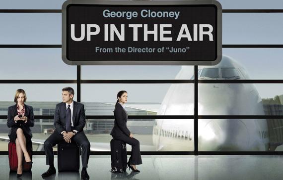 George Clooney plays Ryan Bingham, a corporate downsizing specialist.