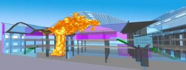Brand- und Rauchsimulationen