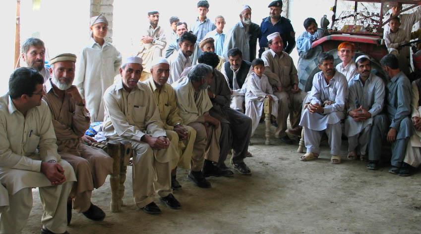 Men discuss women's empowerment in Pakistan
