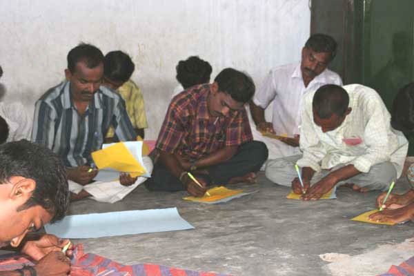 Hand in Hand Chennai men group work