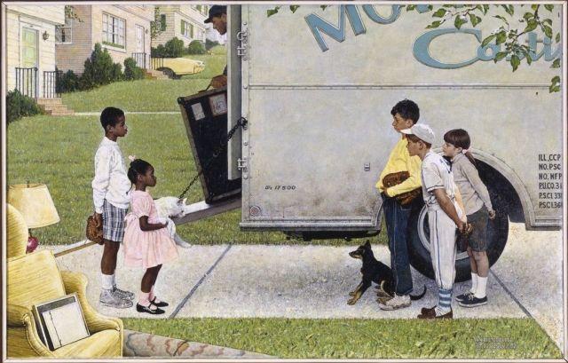 Norman Rockwell - New Kids in the Neighborhood