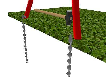 comment fixer balancoire sans beton