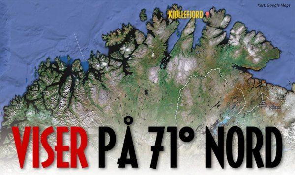 Viser på 71 grader nord