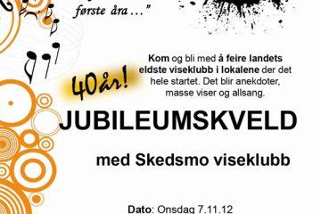 Jubileumsplakat Skedsmo VK