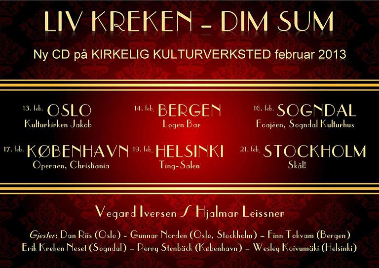 Konsertplakat for Liv Kreken