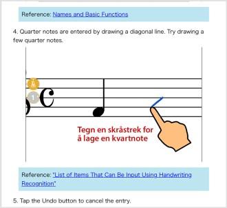 Notetegning med fingrene