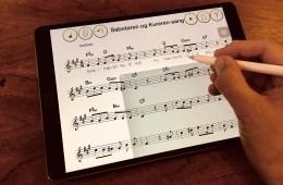 Notevindu på iPad