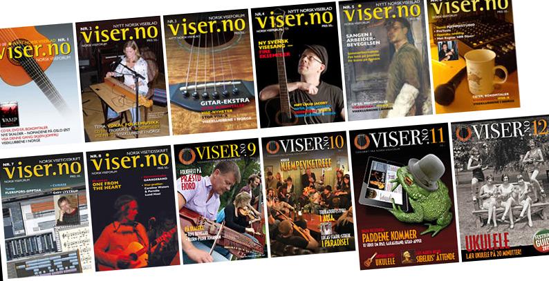 Viser.no-bladets 12 første utgaver