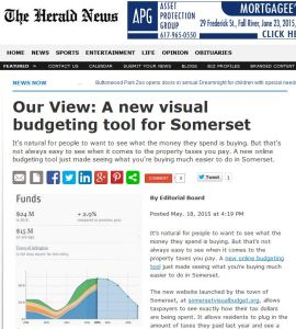 Our View: A new visual budgeting tool for Somerset