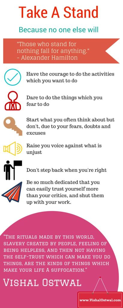 Take a stand in life Infographic
