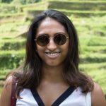 Anjli in the paddy fields