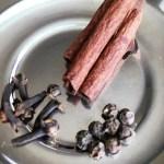 Cinnamon, Black pepper, cloves